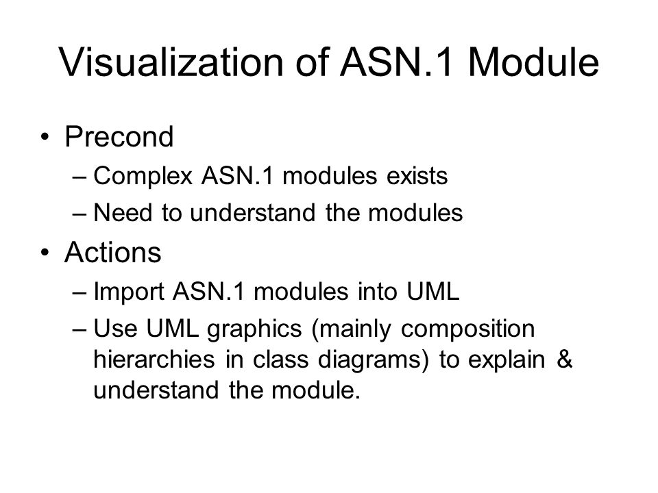 Visualization of ASN.1 Module