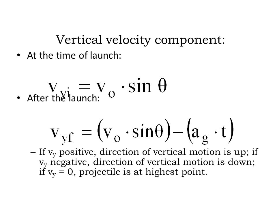 Vertical velocity component: