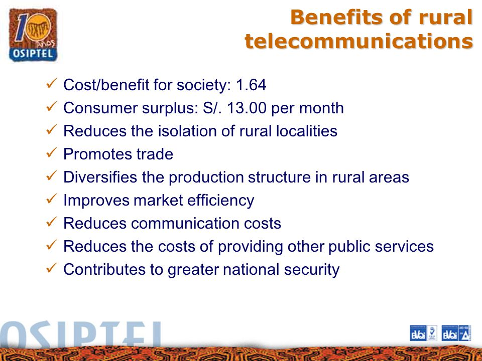 Benefits of rural telecommunications