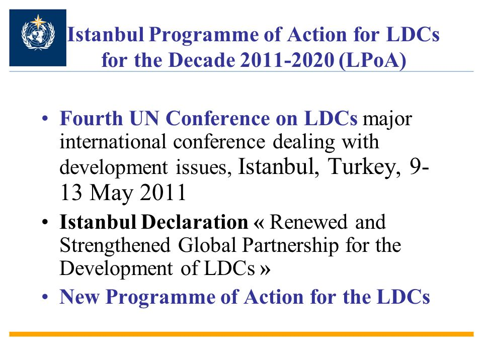 Istanbul Programme of Action for LDCs for the Decade 2011-2020 (LPoA)