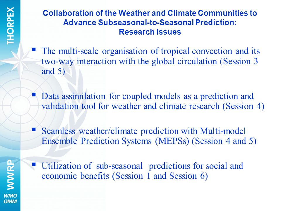 Collaboration of the Weather and Climate Communities to Advance Subseasonal-to-Seasonal Prediction: Research Issues