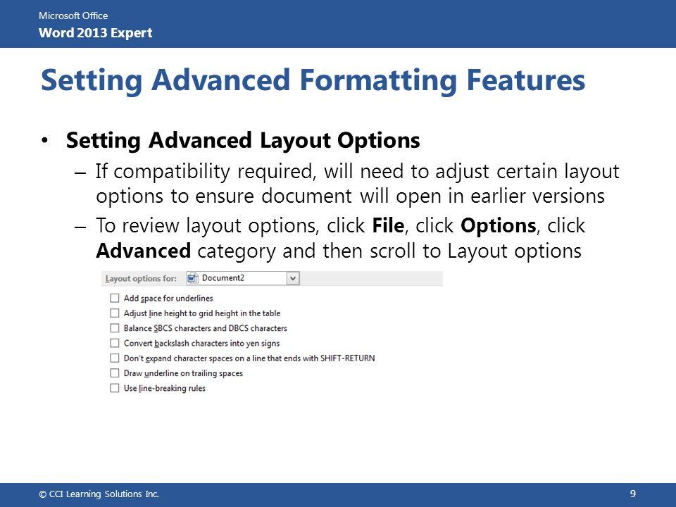 Lesson 2: Applying Advanced Formatting - ppt video online