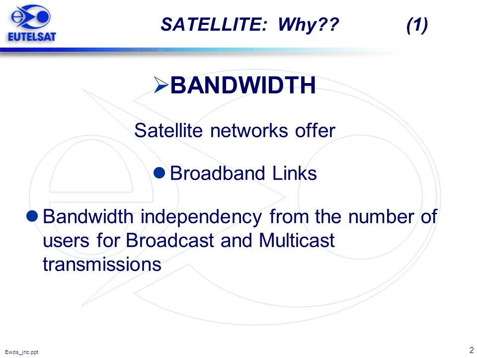 Satellite networks offer