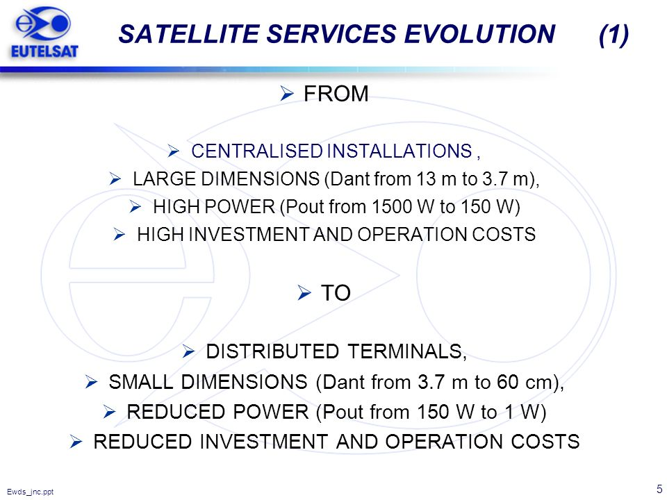SATELLITE SERVICES EVOLUTION (1)