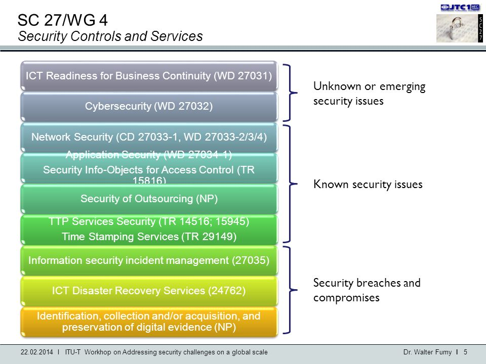 ISO/IEC JTC 1/SC 27 IT Security Techniques - ppt download