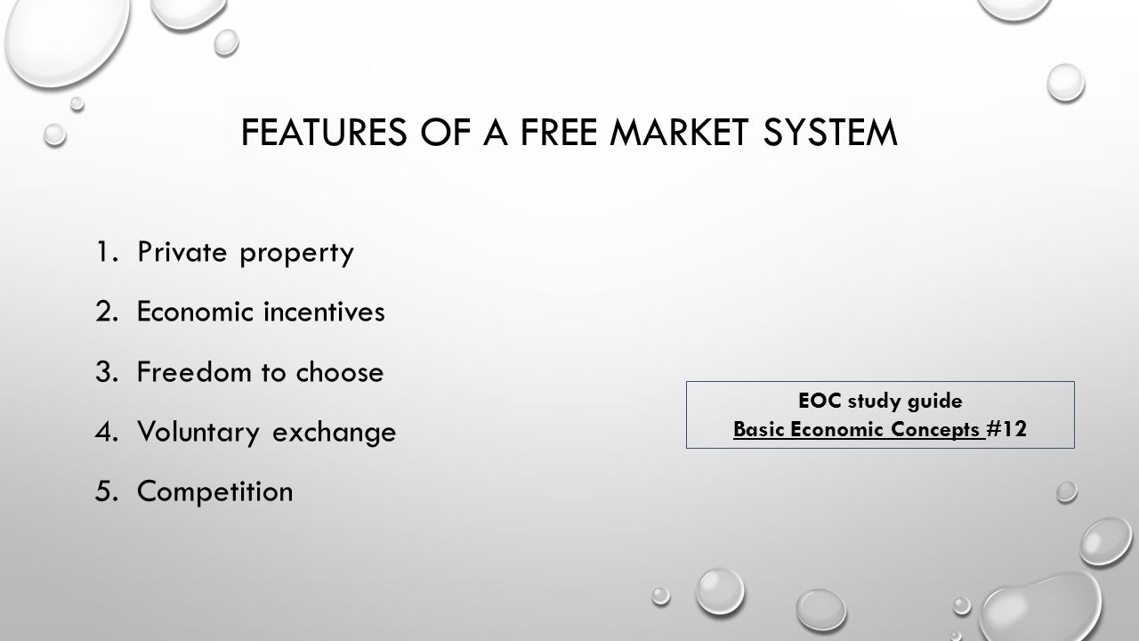 The main features of the free market - the ideal and the unattainable 35