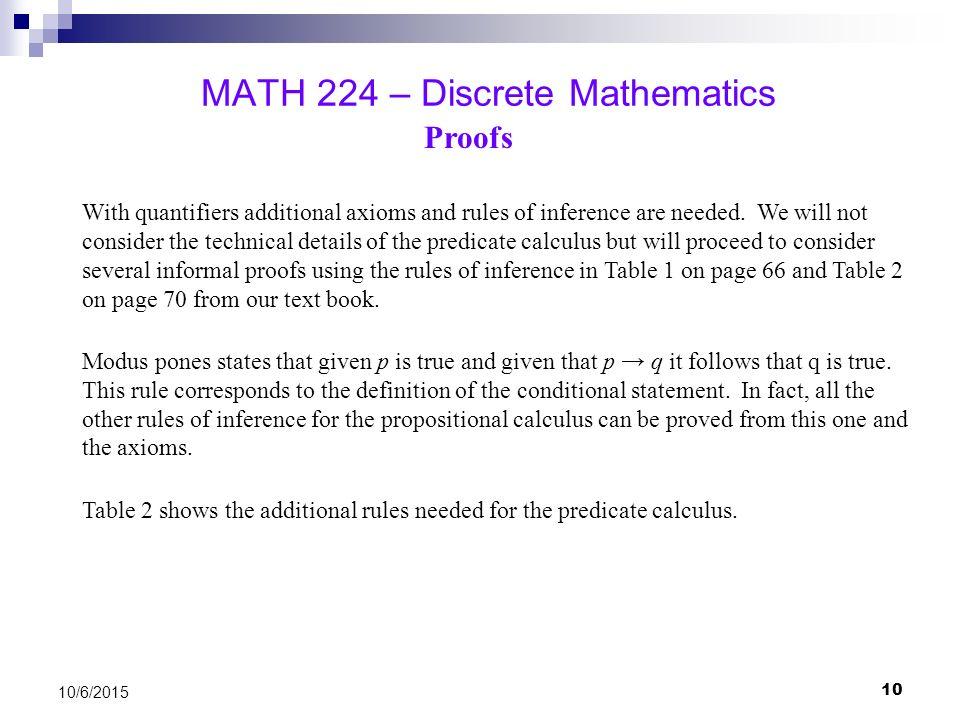 predicate calculus in discrete mathematics pdf