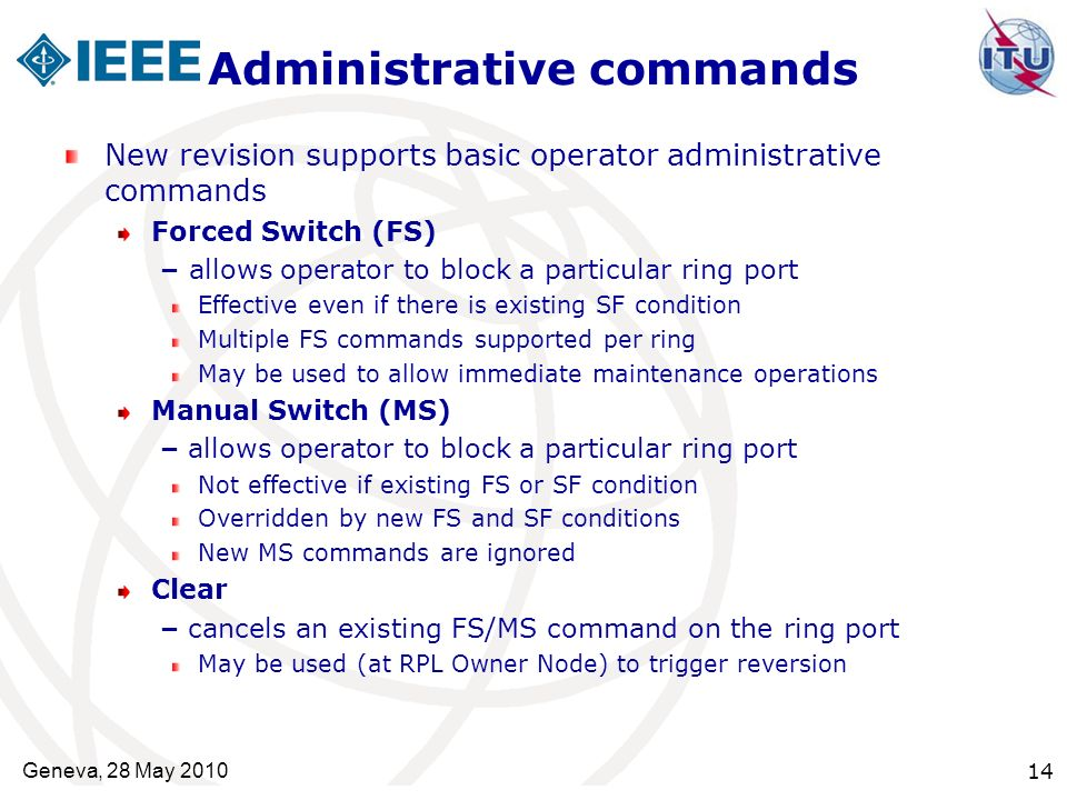 Administrative commands