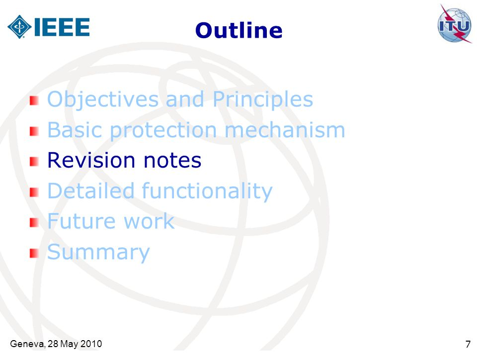 Objectives and Principles Basic protection mechanism Revision notes