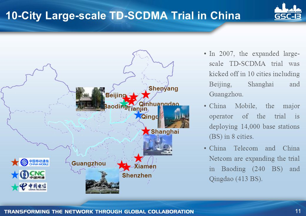 10-City Large-scale TD-SCDMA Trial in China