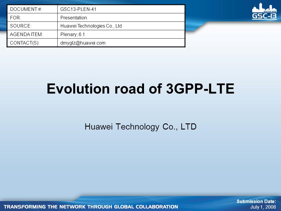 Evolution road of 3GPP-LTE