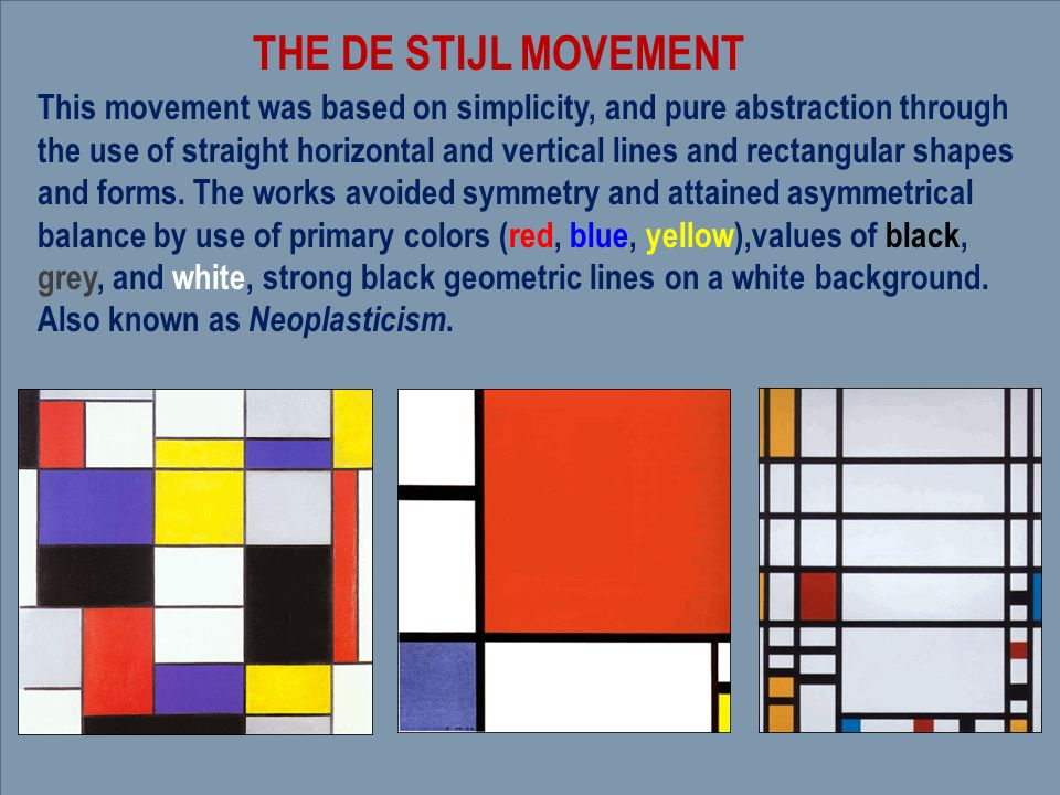 de stijl movement