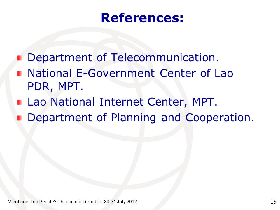 References: Department of Telecommunication.