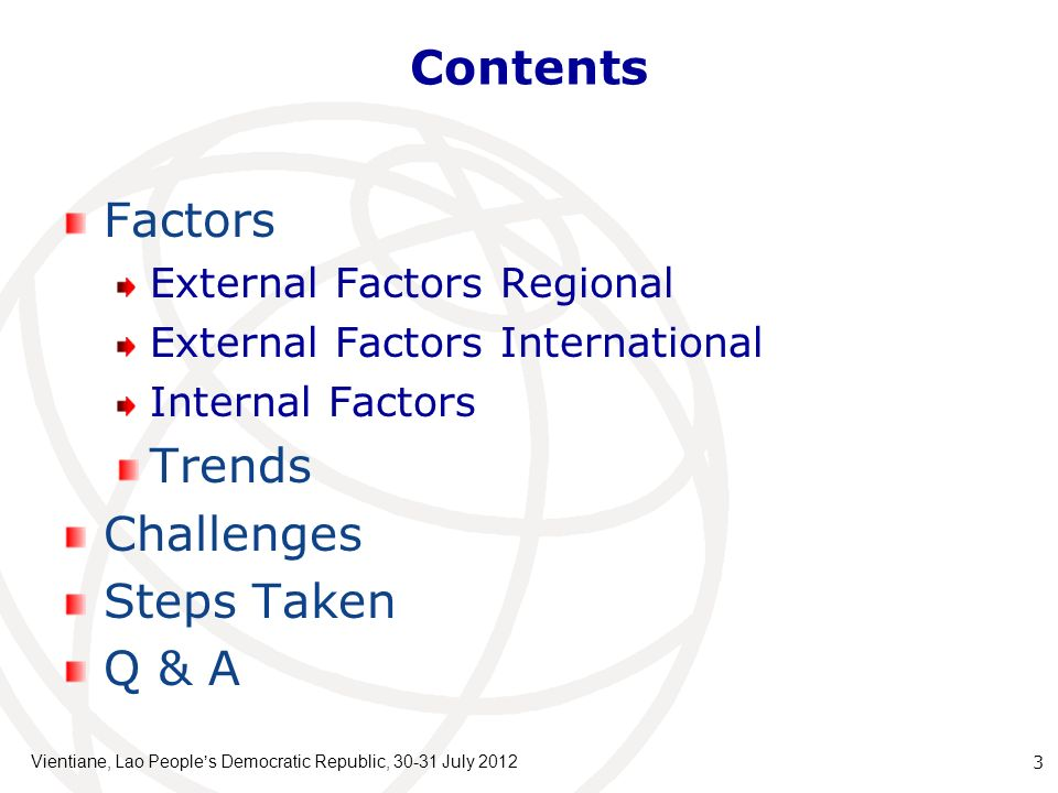 Contents Factors Trends Challenges Steps Taken Q & A
