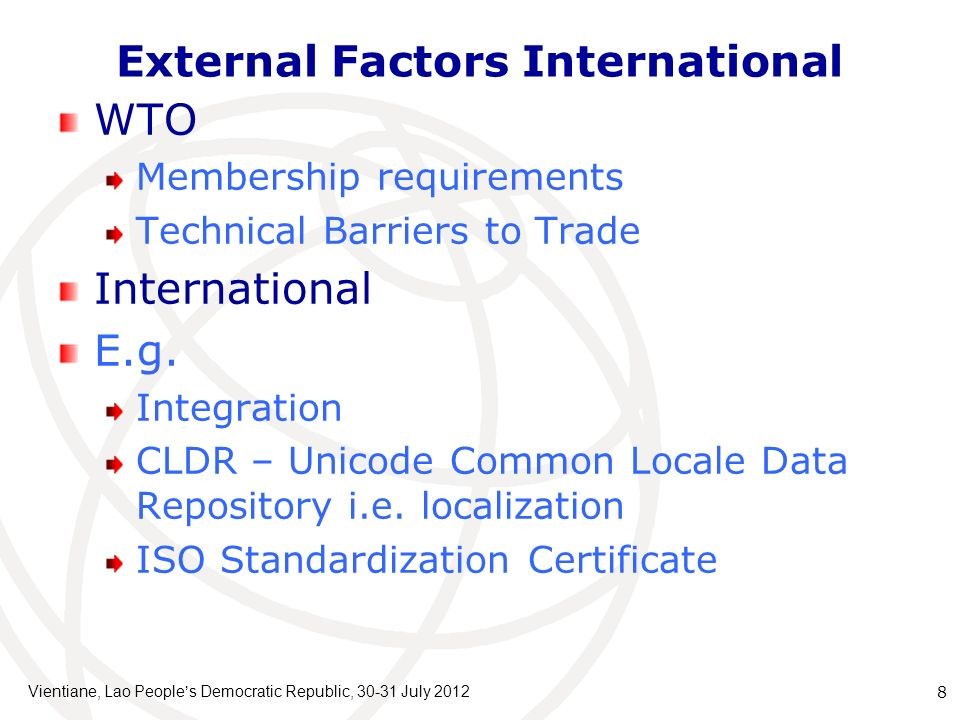 External Factors International