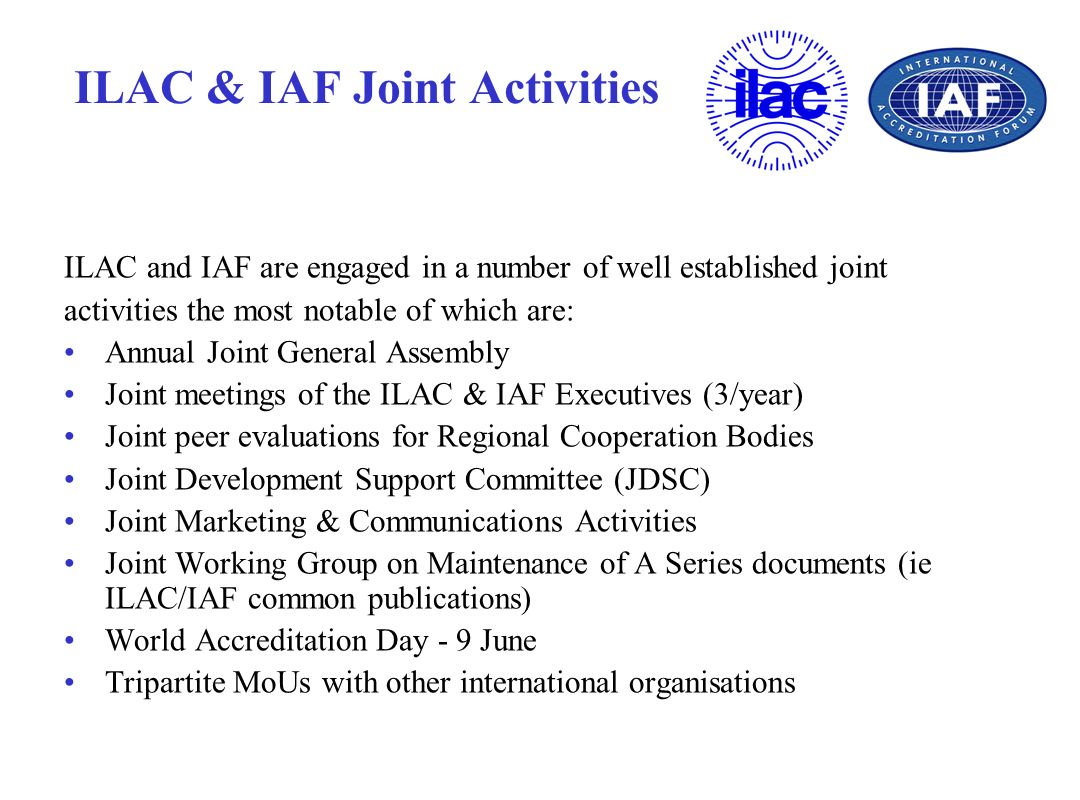 ILAC & IAF Joint Activities