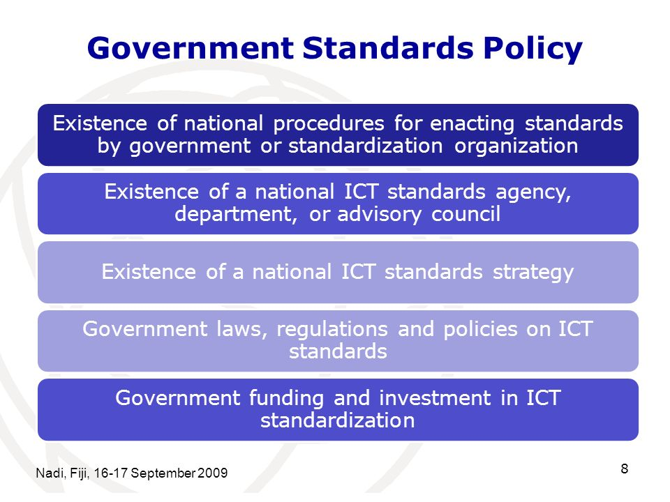 Government Standards Policy