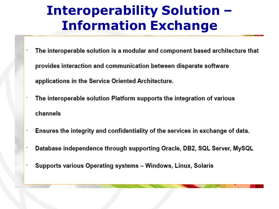 Interoperability Solution – Information Exchange