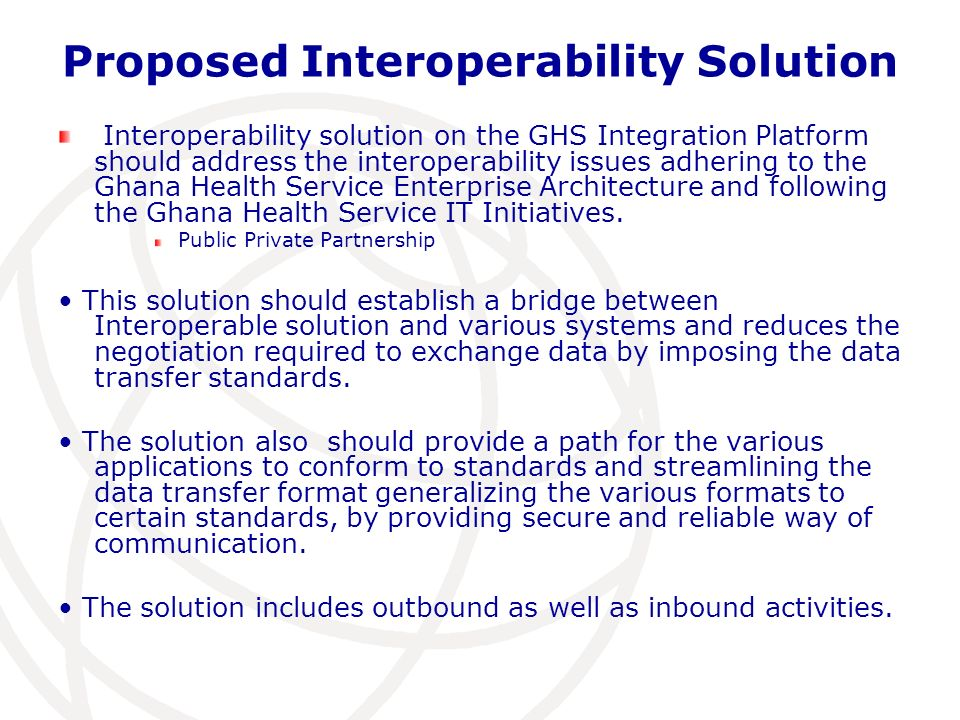 Proposed Interoperability Solution