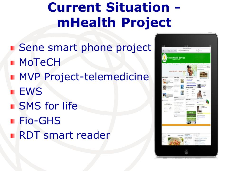 Current Situation - mHealth Project