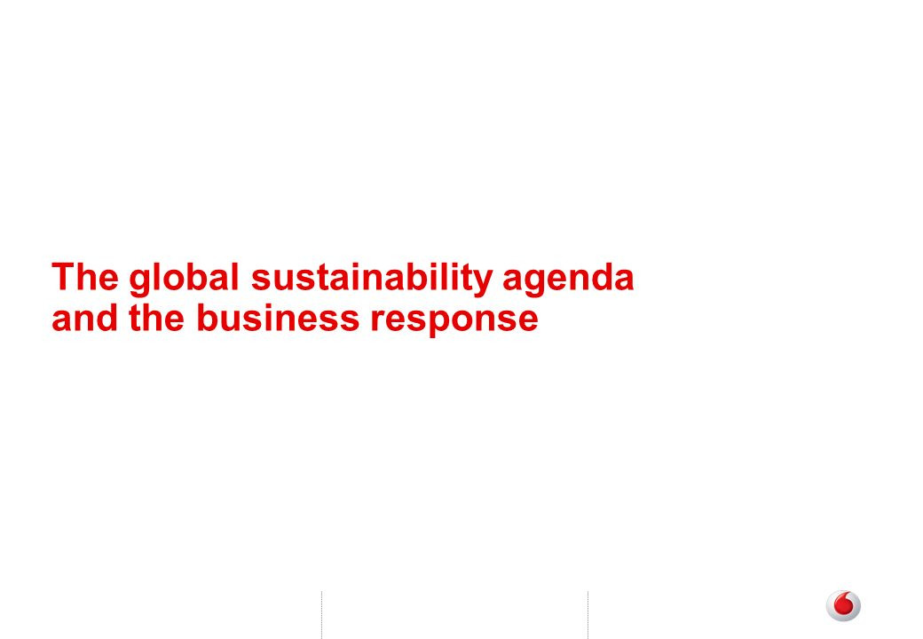 The global sustainability agenda and the business response