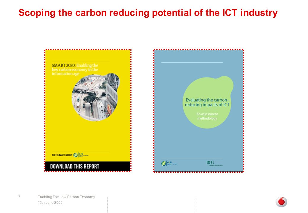 Scoping the carbon reducing potential of the ICT industry