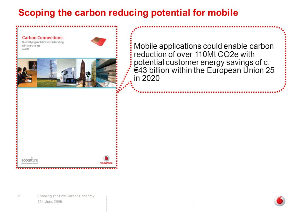 Scoping the carbon reducing potential for mobile