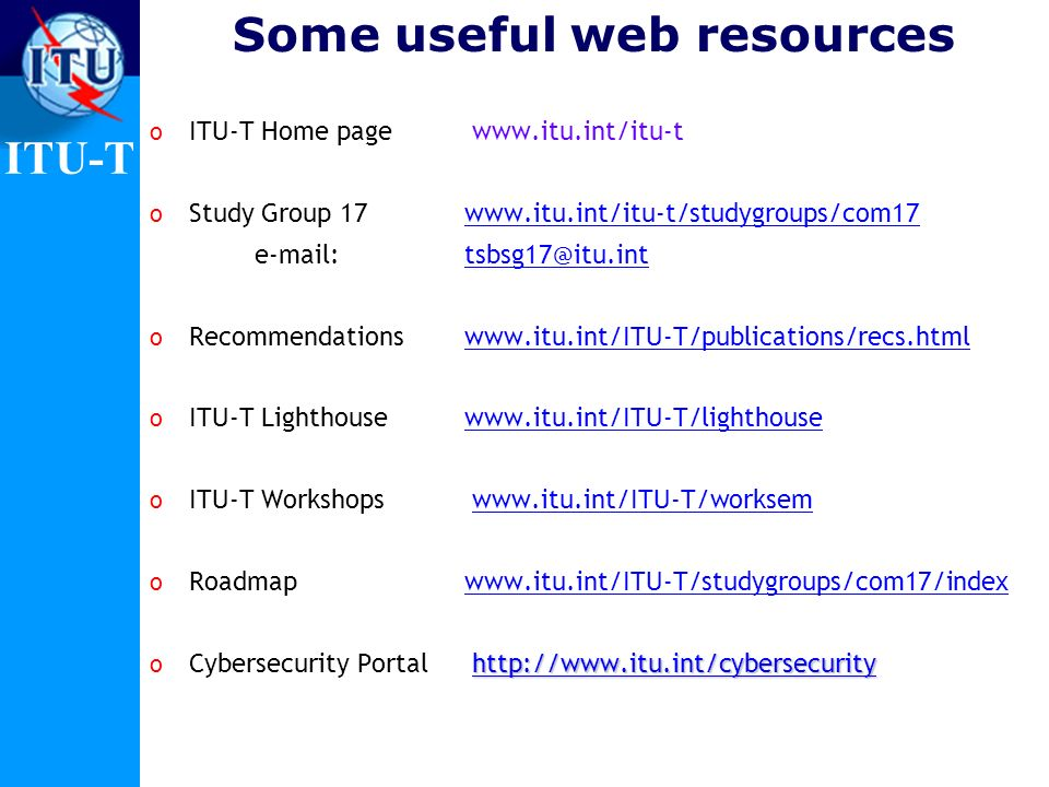 Some useful web resources