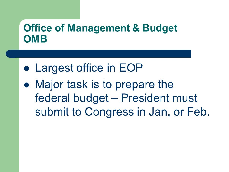 Office of Management & Budget OMB