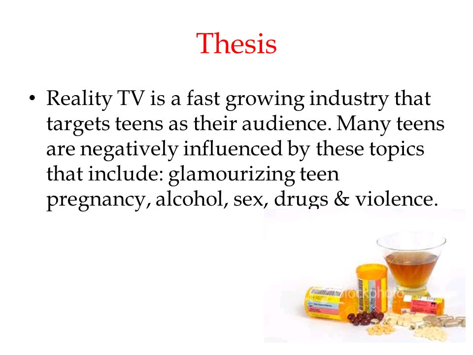 Television effects on teenagers and sex