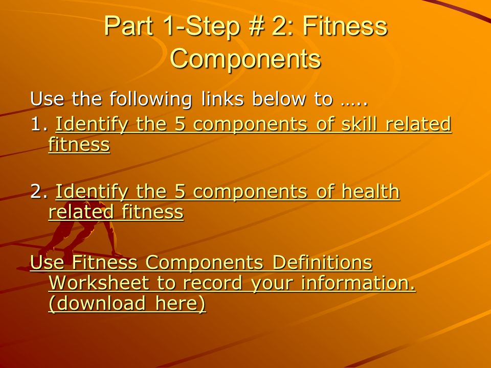 My Fitness Plan Web Quest Ppt Video Online Download