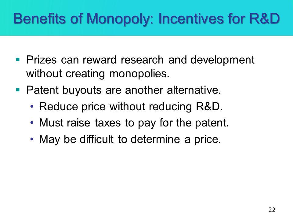 benefits of monopoly