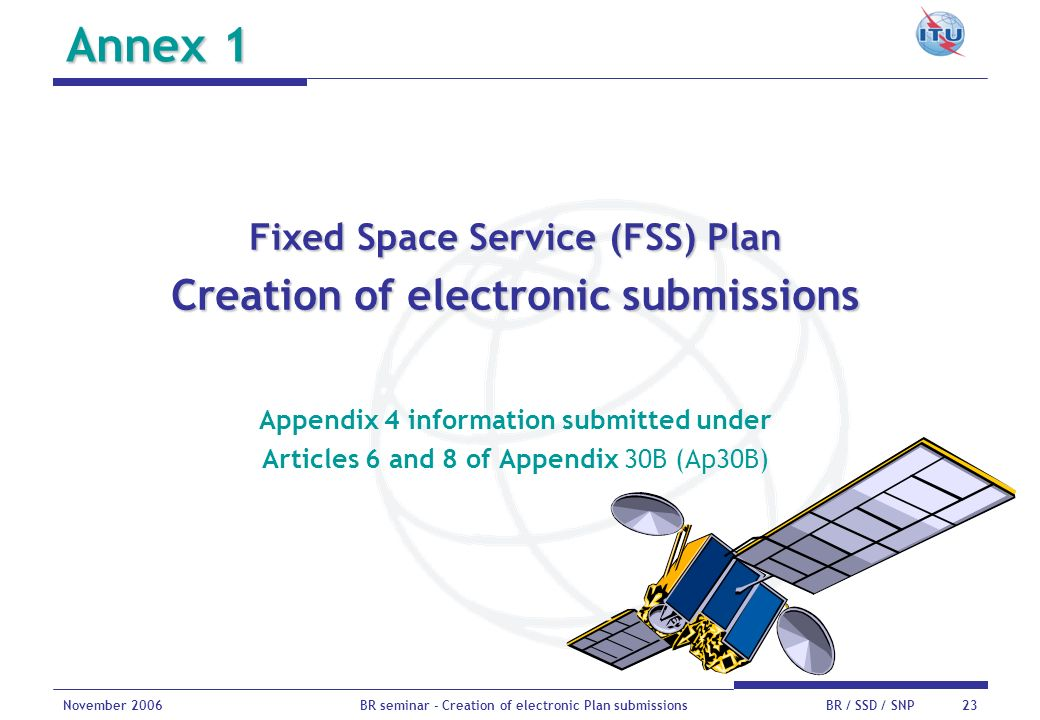 Annex 1 Creation of electronic submissions