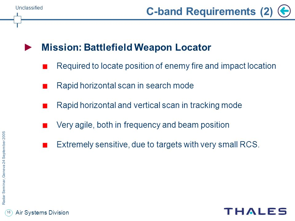 C-band Requirements (2)