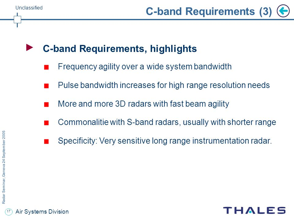 C-band Requirements (3)
