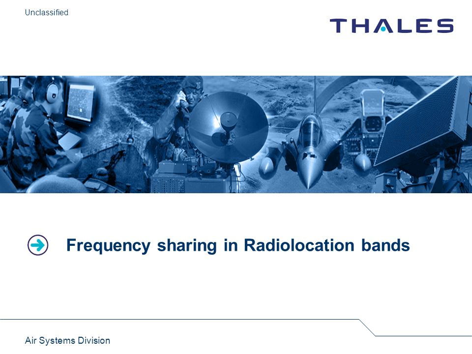 Frequency sharing in Radiolocation bands