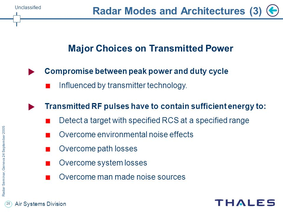Radar Modes and Architectures (3)