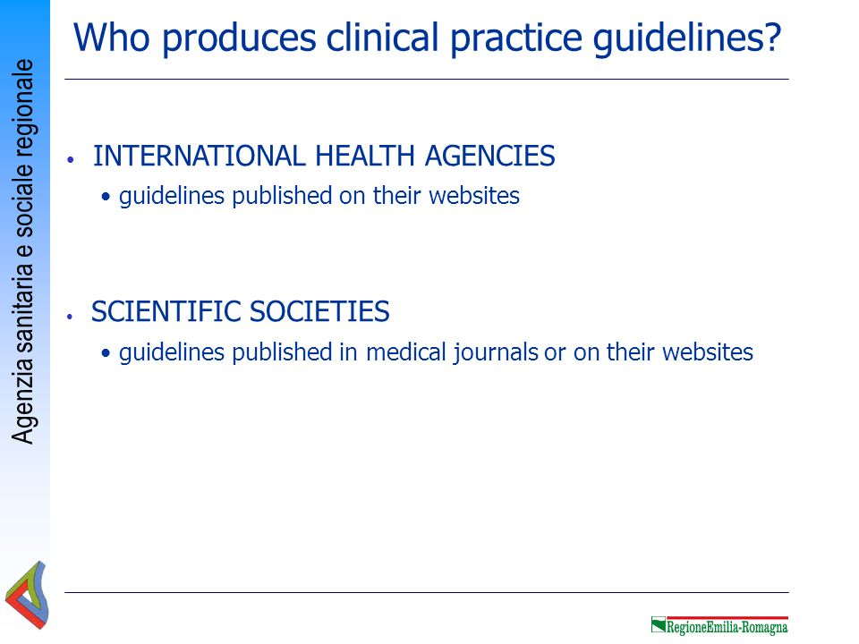 Who produces clinical practice guidelines