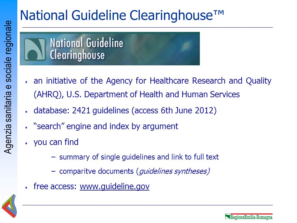 National Guideline Clearinghouse™