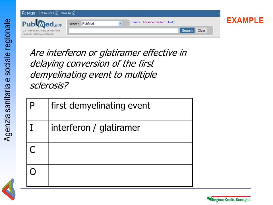 first demyelinating event I interferon / glatiramer C O