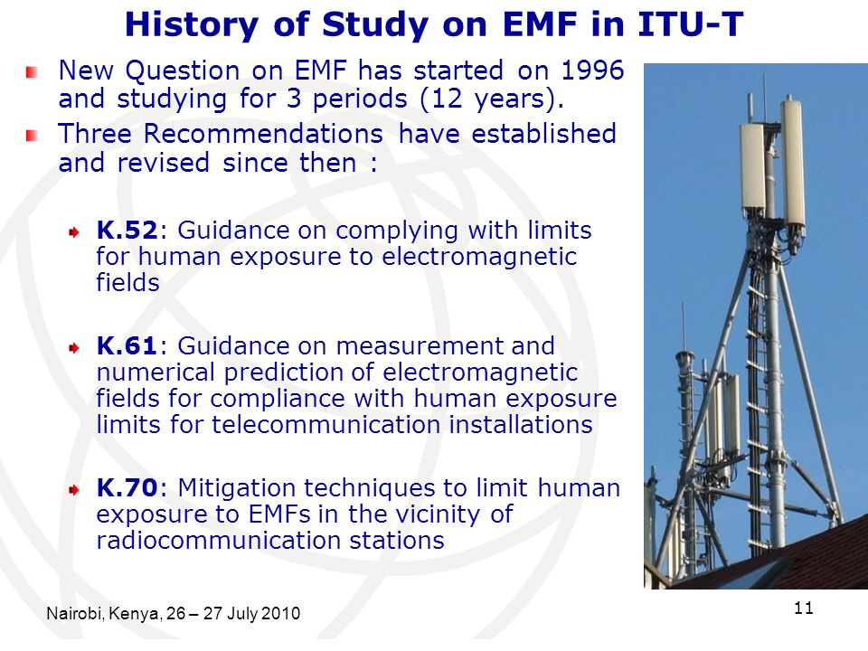 History of Study on EMF in ITU-T