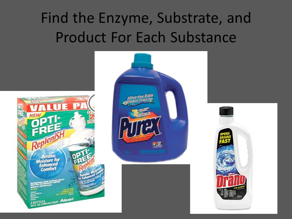 Find the Enzyme, Substrate, and Product For Each Substance