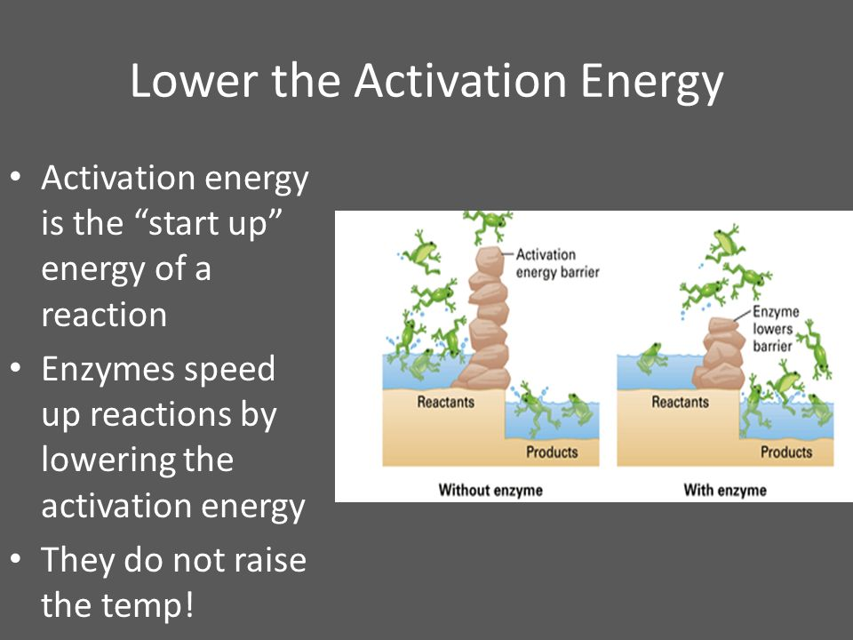 Lower the Activation Energy