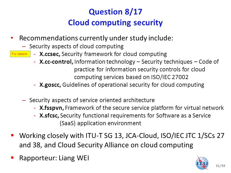 Question 8/17 Cloud computing security