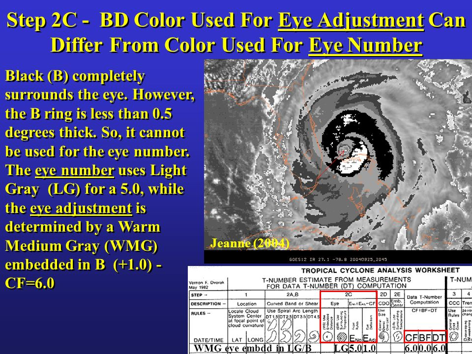 Step 2C - BD Color Used For Eye Adjustment Can Differ From Color Used For Eye Number