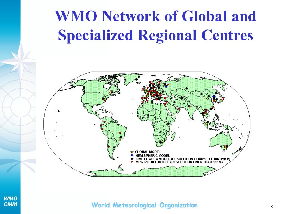WMO Network of Global and Specialized Regional Centres