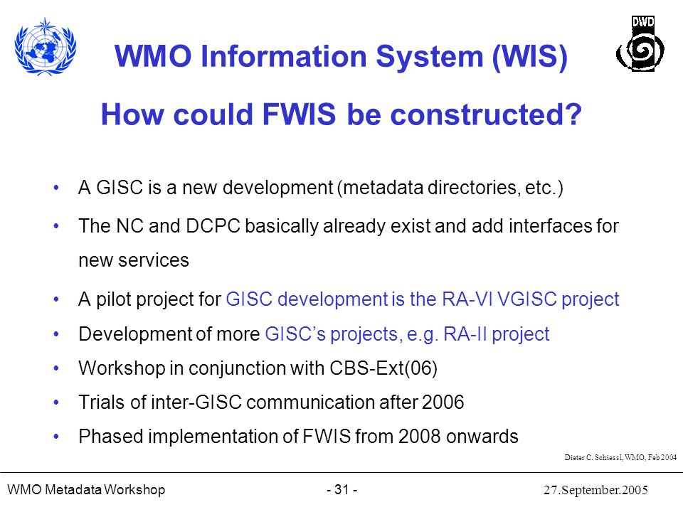 How could FWIS be constructed