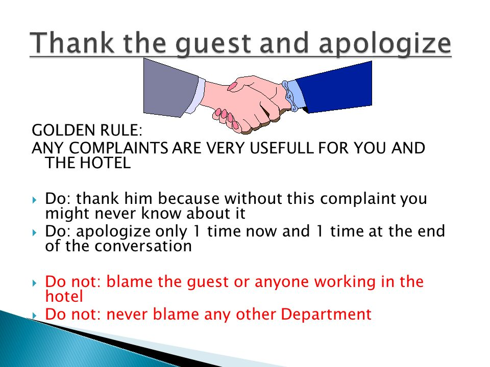 Complaint Handling Professional response by TMs who care