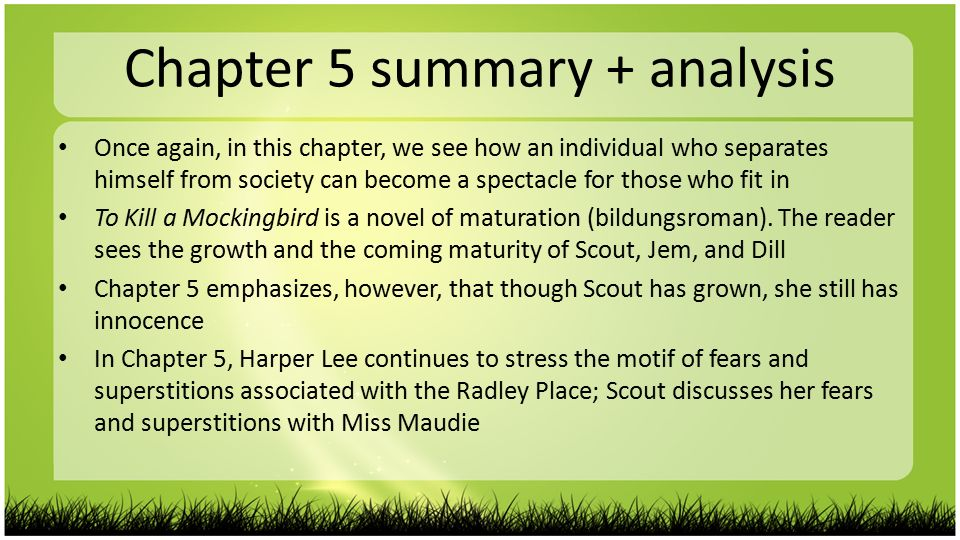 summary to kill a mockingbird chapter 5