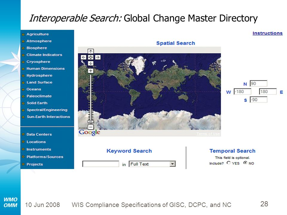 Interoperable Search: Global Change Master Directory